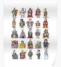 British  Monarchs Poster