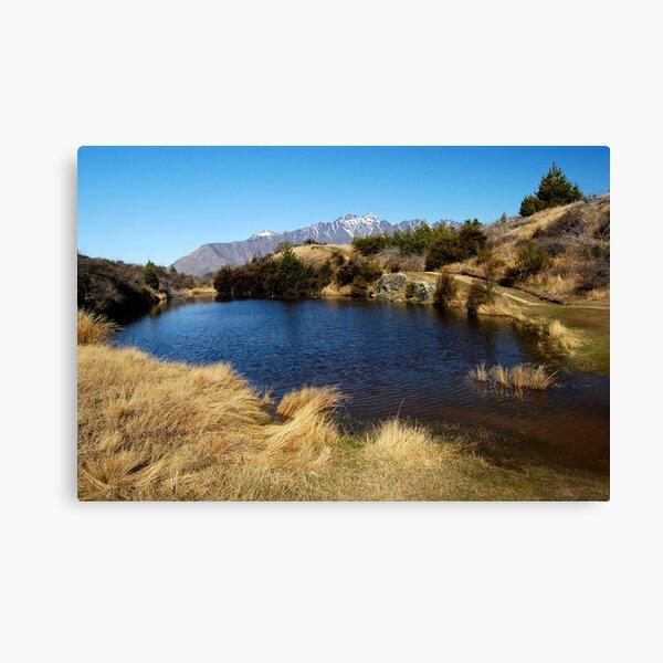 Hilltop Lake Canvas Print