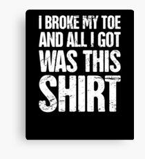 Lienzo Funny Get Well Gift - Fractura del dedo gordo del pie roto