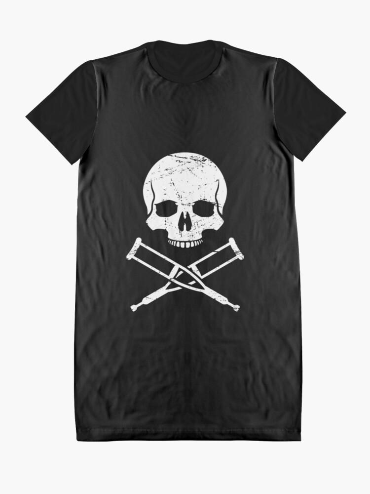 Vista alternativa de Vestido camiseta Funny Get Well Gift - Fractura del dedo gordo del pie roto