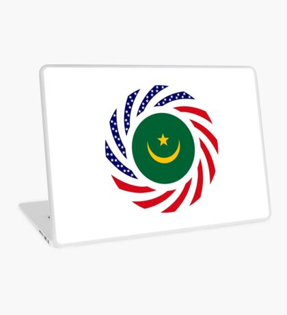 Mauritanian American Multinational Patriot Flag Series Laptop Skin