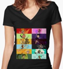 Zodiac Magical Girls Women's Fitted V-Neck T-Shirt