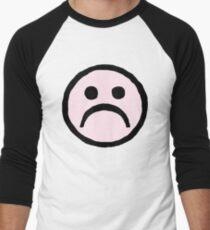 f47d92698753 Moral tycoon - Pink Sad face Men s Baseball ¾ T-Shirt