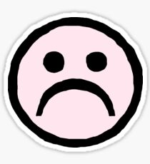 Sad Face Emoji Drawing Stickers Redbubble