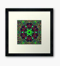Green Trippy Time Framed Print