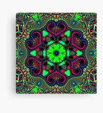 Green Trippy Time Canvas Print