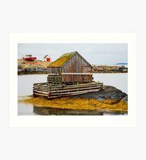 The Lobsterman's Cabin Art Print