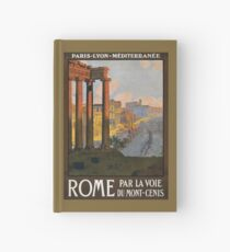 Rome Vintage Travel Poster Restored Hardcover Journal
