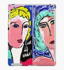 Love is my Name Italian Recycled Train Ticket  Pop Art Portrait  iPad Case/Skin