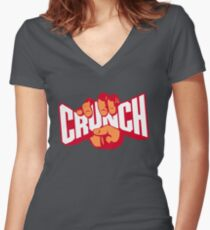 Crunch Gym Fitness Women's Fitted V-Neck T-Shirt