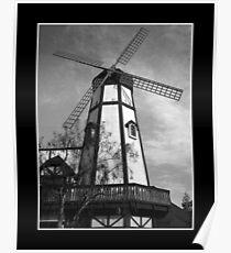 California Windmill Poster