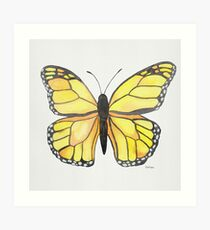 Gelber Schmetterling Kunstdruck