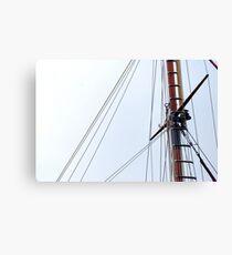 Mast Canvas Print