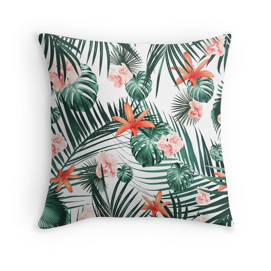 Tropical Flowers & Leaves Paradise #2 #tropical #decor #art