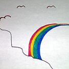 Rainbow and Birds by Doodlebug