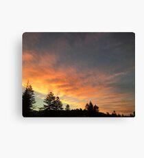 Beautiful orange/yellow sunset Canvas Print
