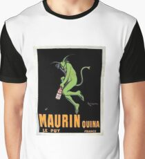 Vintage French Alcohol Poster Art Maurin Quina Graphic T-Shirt