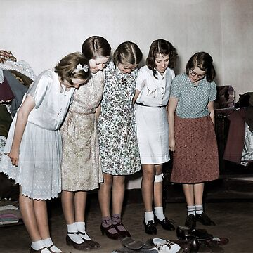 Girls after having been evacuated from the Channel Islands, 1940 by cassowaryprods