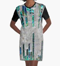 Abstract Geometric Abalone and Mother of pearl  Graphic T-Shirt Dress