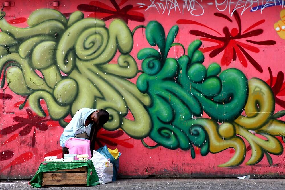 sleepy women in a noisy street by Alice Rey