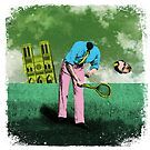 OBADIAH MUFTIFUMBLE - Delightful illustration of everyone's favourite headless tennis player ... OBADIAH MUFTIFUMBLE! by Clifford Hayes