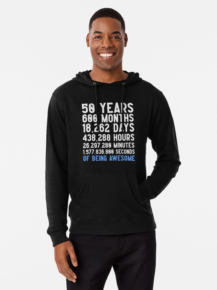 Mens 50th Birthday Countdown T Shirt Funny Gift 50 Year Olds
