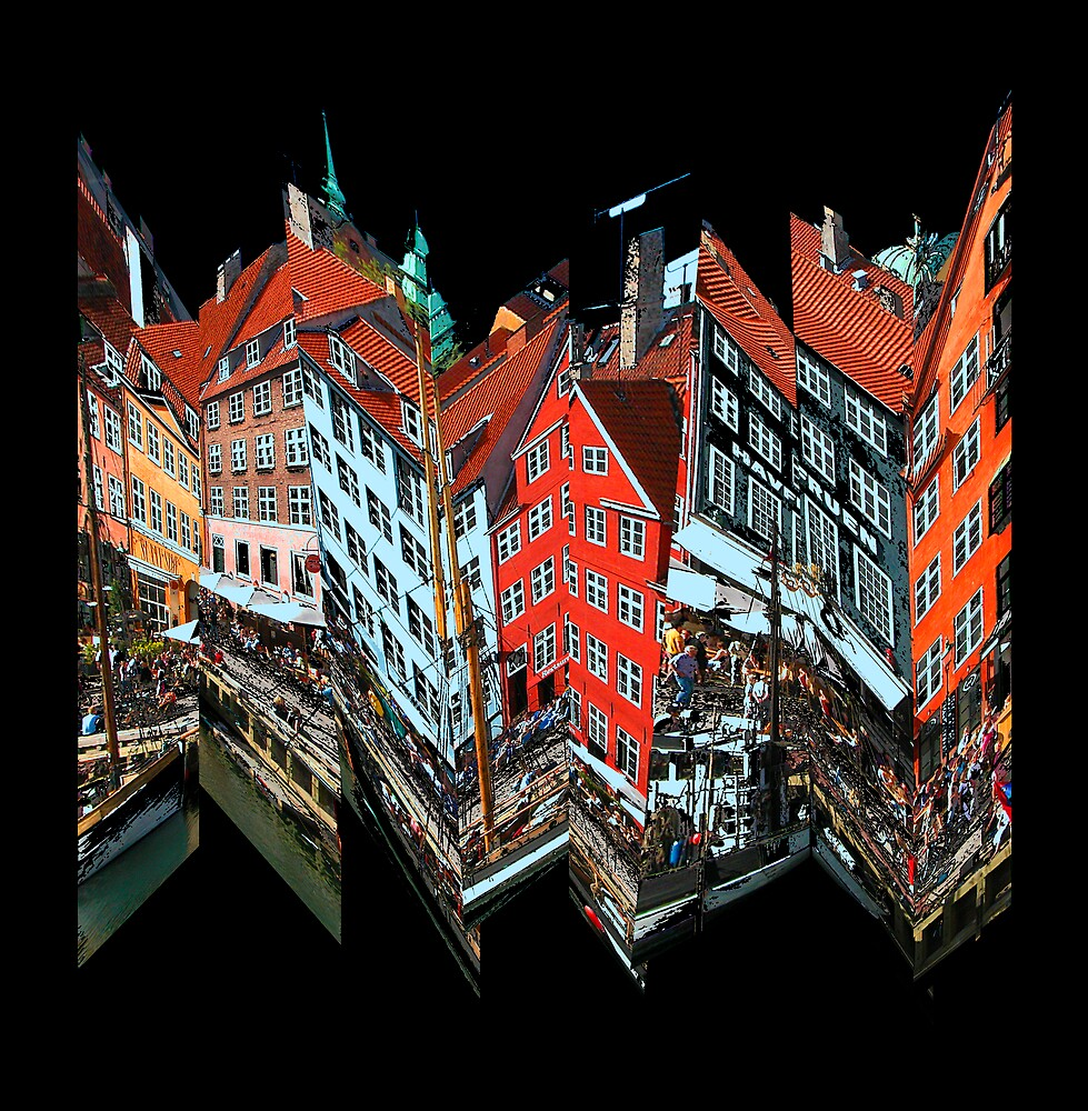 Nyhavn Collage 2 by Virginia Maguire