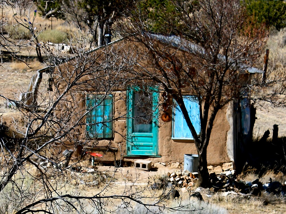 New Mexico Blue Doors - Golden Blues by TWindDancer