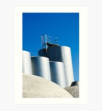 Stainless steel tanks in a winery, Portugal Art Print