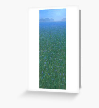 Blue Meadow II Greeting Card