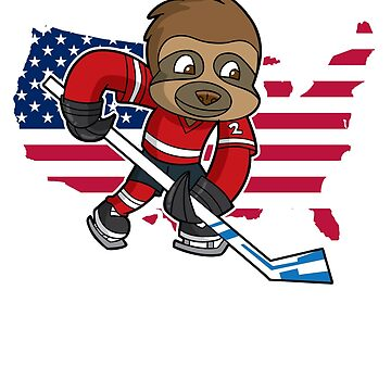 Sloth USA Hockey by frittata