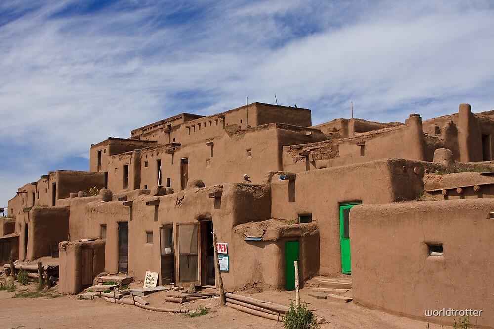 Taos Pueblo (Color Version), Taos, New Mexico by Tomas Abreu