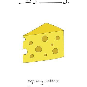 Birthday Card - Cheese by maxhornewood
