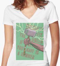 Hammer Women's Fitted V-Neck T-Shirt