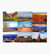 Collage of Utah Landscape Icons Photographic Print