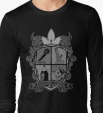 Hiphop Family Crest (B&W variant )  Long Sleeve T-Shirt