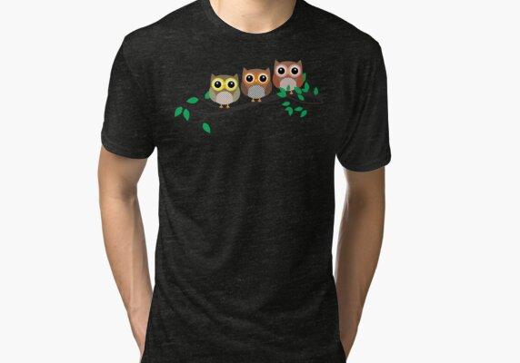 Three Owls at night