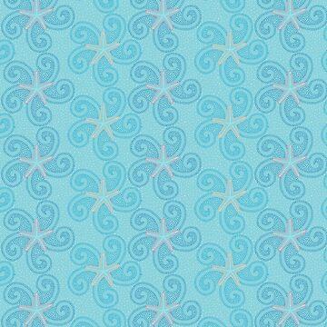 Swirling Starfish by dinafiala