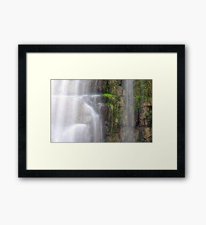 A Touch of Green - Living on the Edge Framed Print