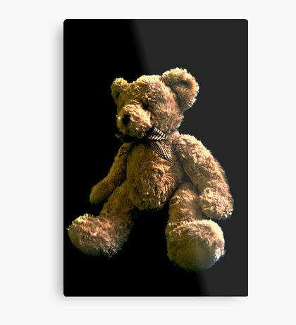 Big Teddy Bear in Light Metal Print