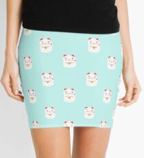 Suerte feliz patrón de gato japonés Minifalda