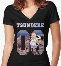 TSUNDERE - Chitoge Women's Fitted V-Neck T-Shirt