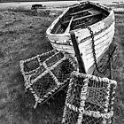 Lindisfarne & Lobster Pots by David Lewins