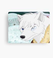 Luka The White Wolf Metal Print