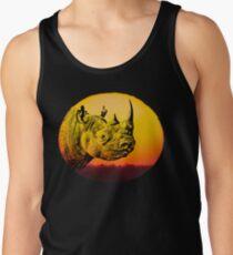 Rhino at Sunset Design for Save Rhino Supporters Tank Top