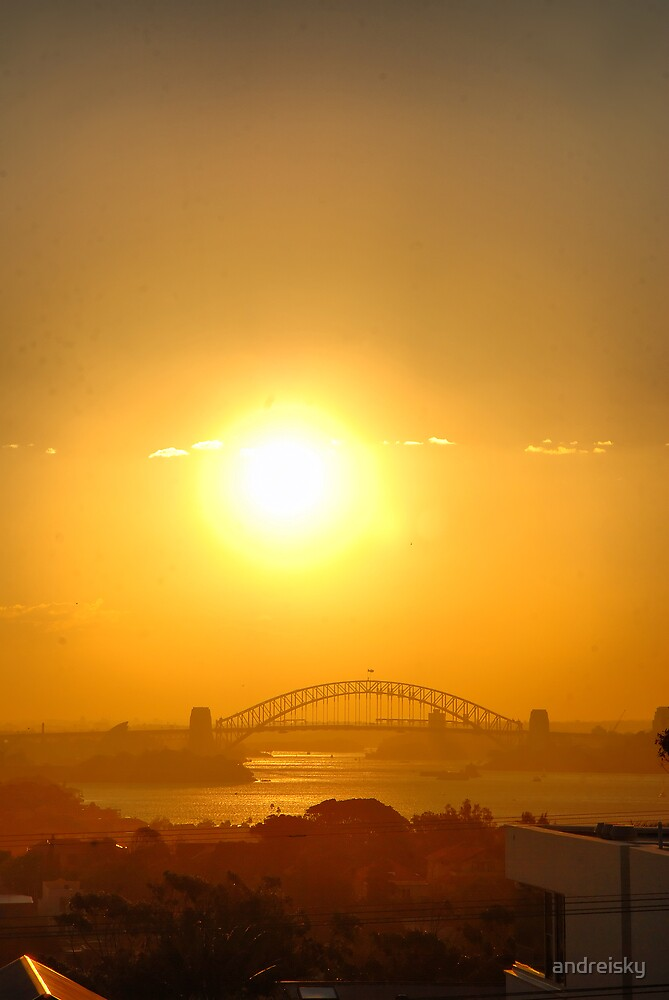 Harbour Bridge at sunset by andreisky