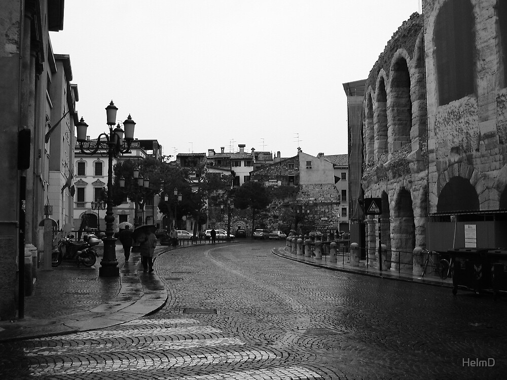 The Streets of Verona by HelmD
