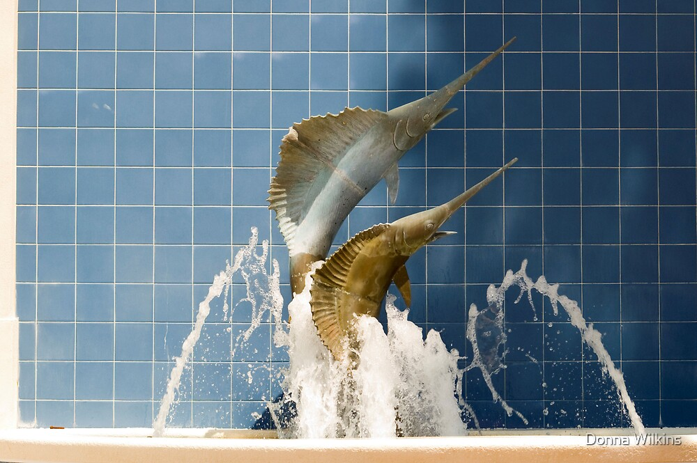 Twin Fin Fountain by Donna Wilkins