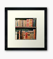 Antique Book Bindings Framed Print