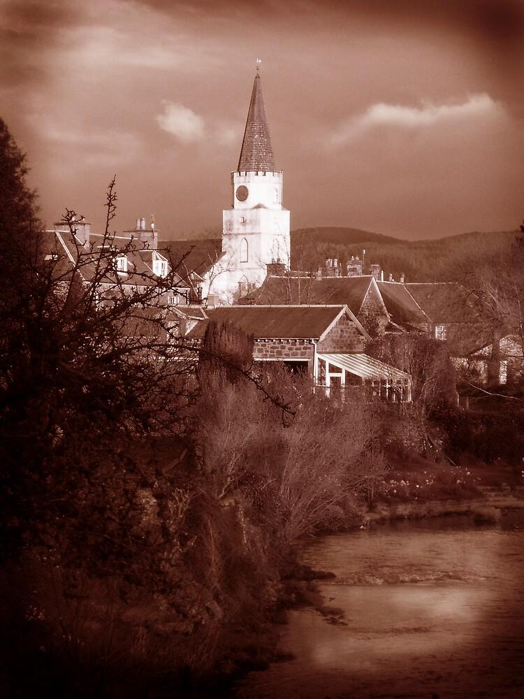 White Church Comrie Scotland by Da-Vie